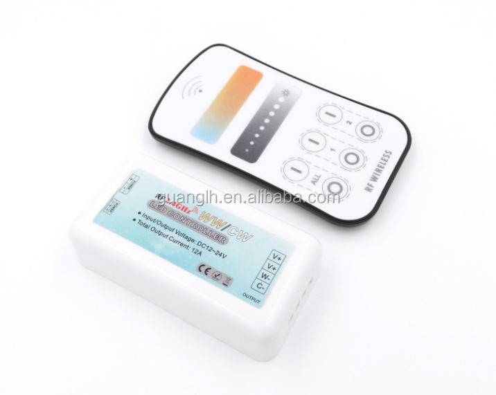 2.4G Ultrathin touch color temperature remote controller for led light strips