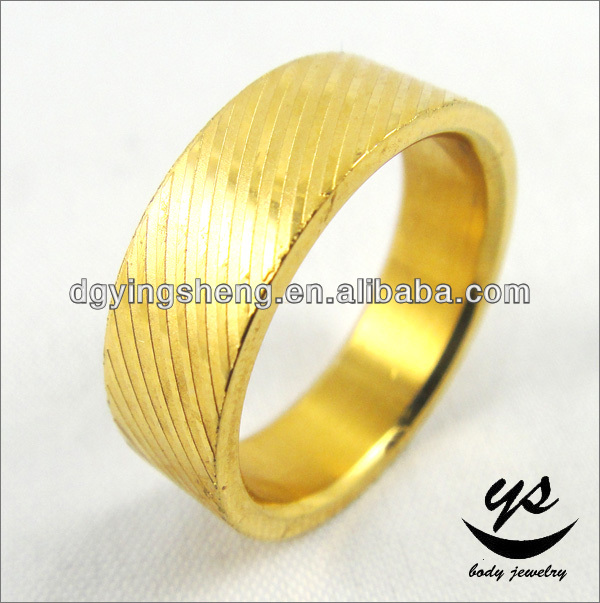 316l surgical stainless steel mens rings 14 karat gold jewelry