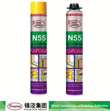 High pressure 500g light yellow pu foam sealants for wood manufacturer sale