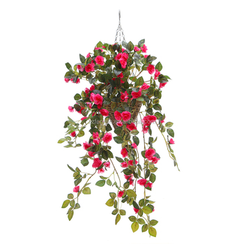 Wholesale Artificial Hanging Flower Silk Rose Flower Garland Wall