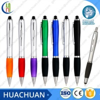 The popular and cheapest branded stylus pen , plastic logo stylus pen