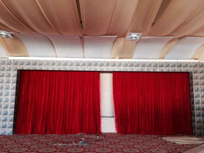 Awesome Red Stage Curtain/church Used Velvet Stage Curtains