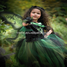 2014 New Design little witch costume / party dress for halloween /Girl Frocks for Costume party