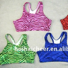 Zebra sport bra for cheerleading