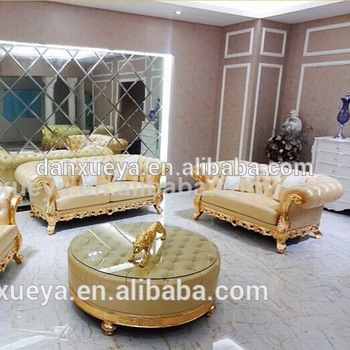 Danxueya Yellow Clic Living Room Wood Furniture Dubai New Model Picture Of Antique Style