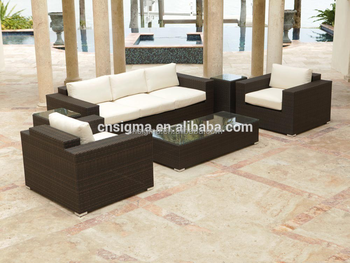 Sigma Cheap Patio Furniture Sets Modern Wicker Couch