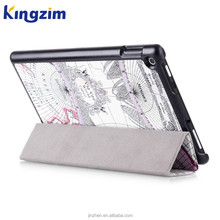 Shockproof Map Pattern Stand PU Leather Case Cover For Amazon new kindle Fire HD 10 Cases Tablet PC