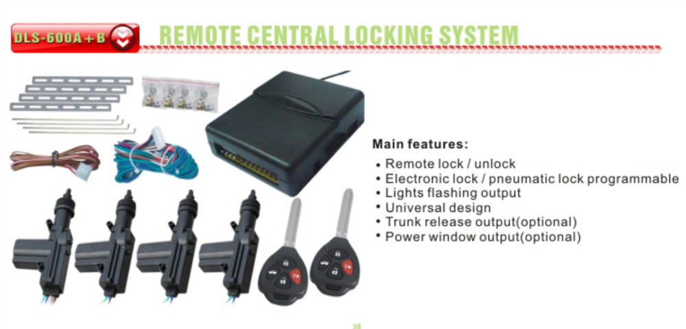 Universal Car Locking System Dc 12v 5 Wires Master Central Door ...
