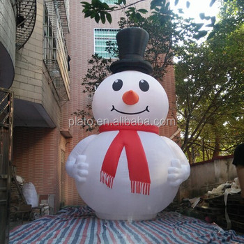 promotional giant inflatable white yetihuge inflatable snowman for outdoor - Huge Inflatable Christmas Decorations