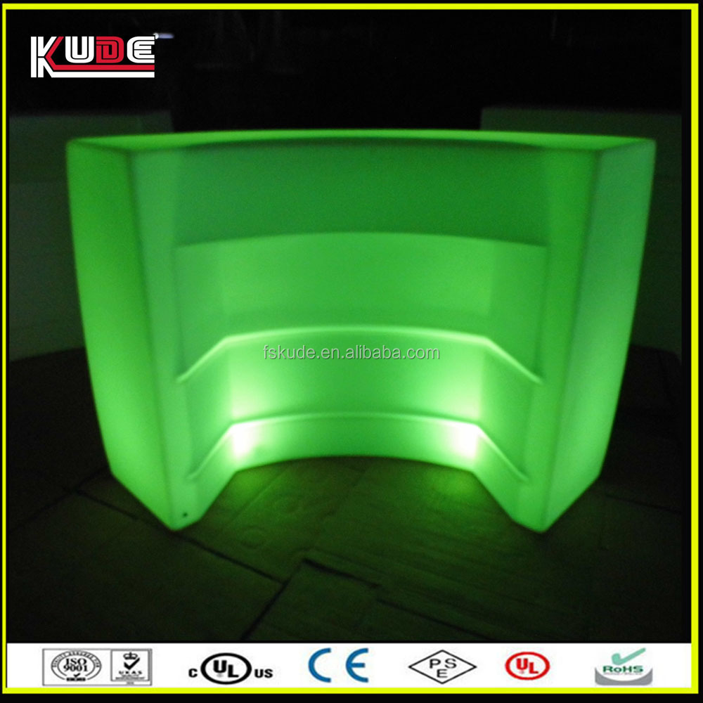 Led plastic portable bar counter furniture with color for How to change color of furniture