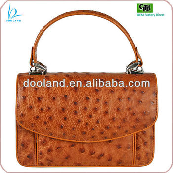 Luxury Full Real Exotic South Africa Ostrich Skin Genuine Leather Bag Handbag Women