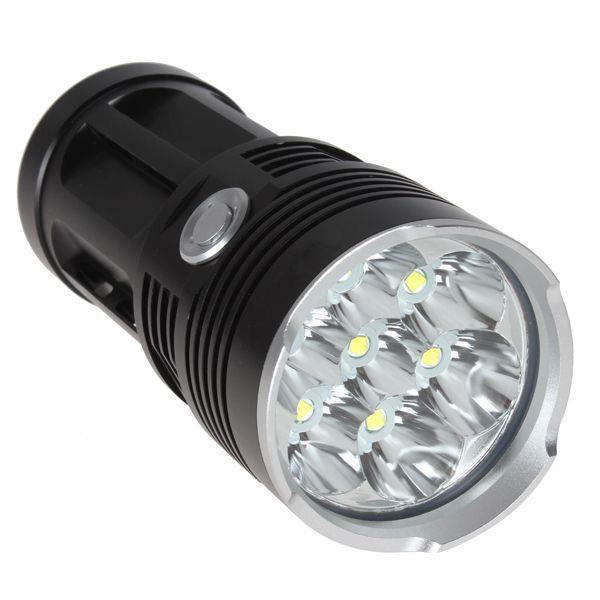 10000 lumens super bright led flashlamp 7 x cree xm l t6 xml led flashlight tactical lantern. Black Bedroom Furniture Sets. Home Design Ideas