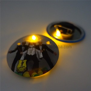 Top Quality Custom Personalized Round Flashing LED Badge