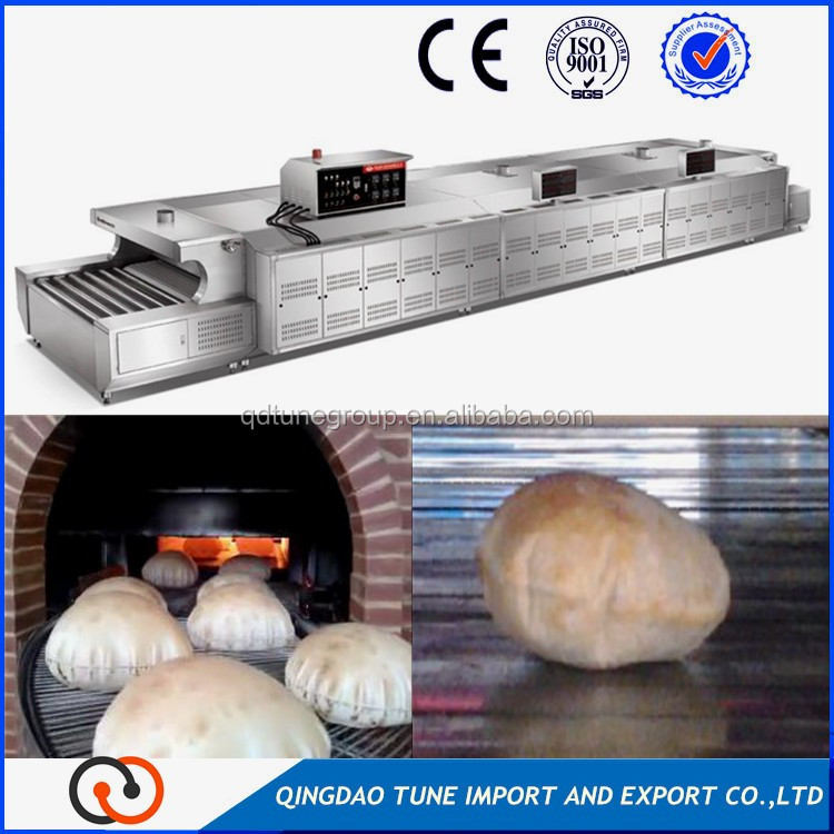 french bread production line/pita bread production line/tunnel oven for bakery