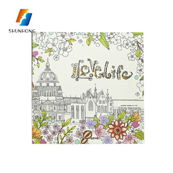 Cheap Custom Kids Adult Coloring Filling Books Printing Services With Poly Bag For Each One