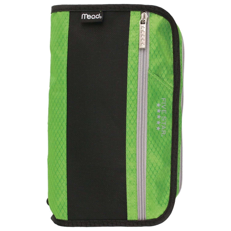 Five Star Zipper Pouch, Pencil Pouch, Pen Case, Xpanz, Lime/Silver (50206CO8)