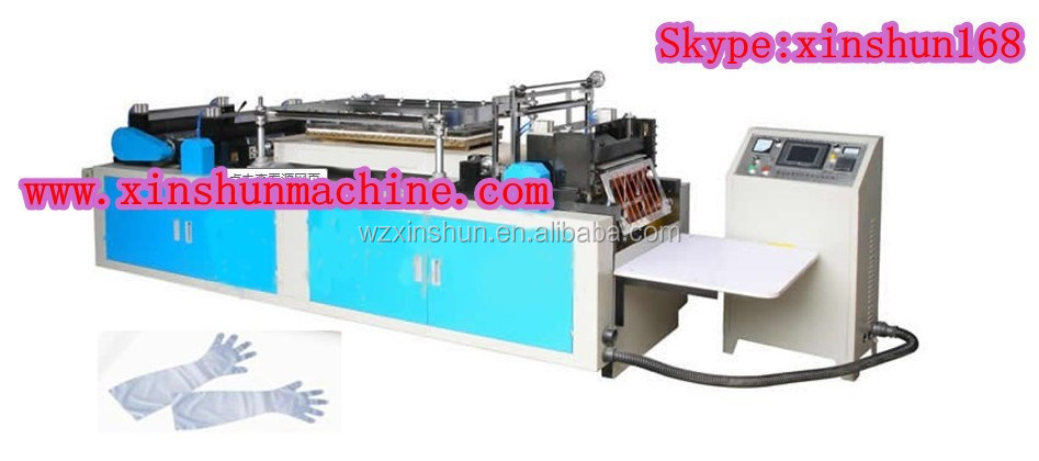Ruian Xinshun Disposable plastic long sleeve glove sharp making machine