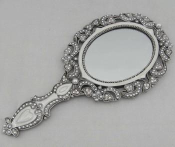 Metal Antique Oval Mirror Hand Mirror P04008b Buy