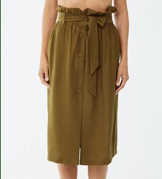 factory outlets crazy price shop Fashion Women Causal Type Skirts Button Front Belted Mid-calf Skirts  Paperbag Midi Skirt - Buy Elastic Waist Solid Skirt,Paperbag Mini Skirts  With ...