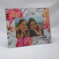 Floral USA Style Memories 6x4 Glass Photo Picture Frame For Promotion Gifts