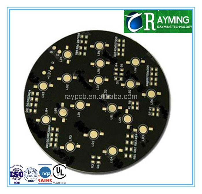 HDI multilayer white silkscreen black soldermask led pcb