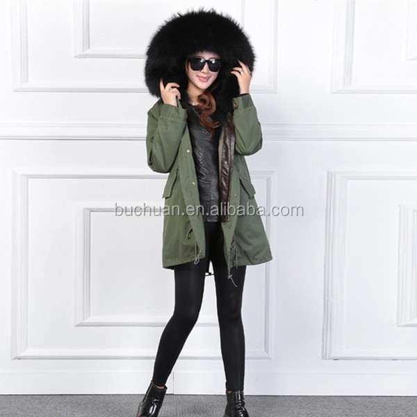 women winter coats real fur parka
