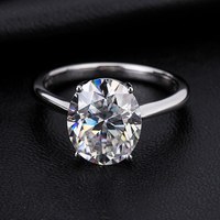 Factory customized oval cut 2ct 18K moissanite engagement ring