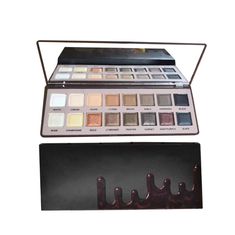 Nieuwe Collectie Custom Make-Up Palet 16 Kleur Mat en Shimmer Chocolade Stijl Eyeshadow Palette Private Label