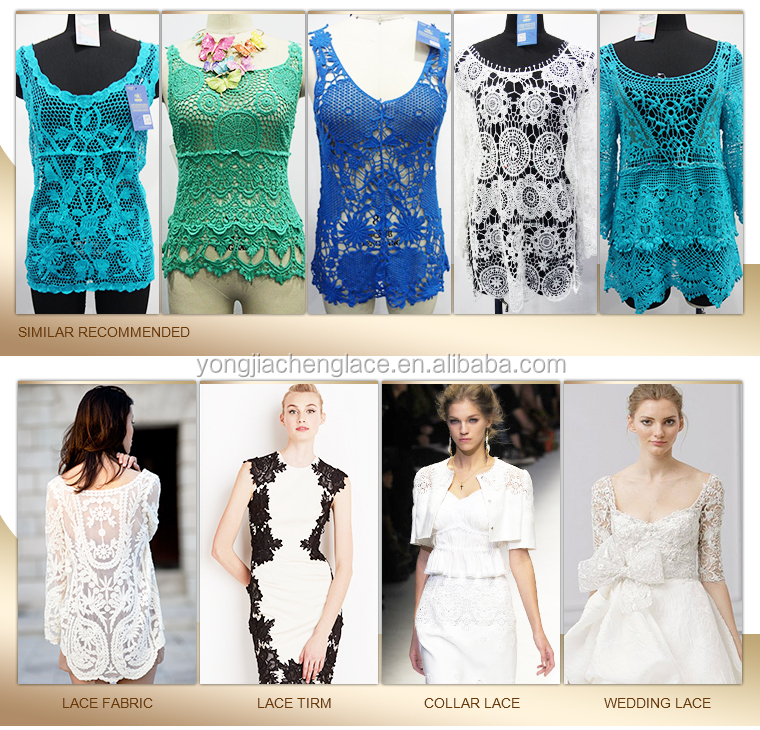 2015 Latest Design Tops Style Swiss High Quality Lace Tops Blouse ...
