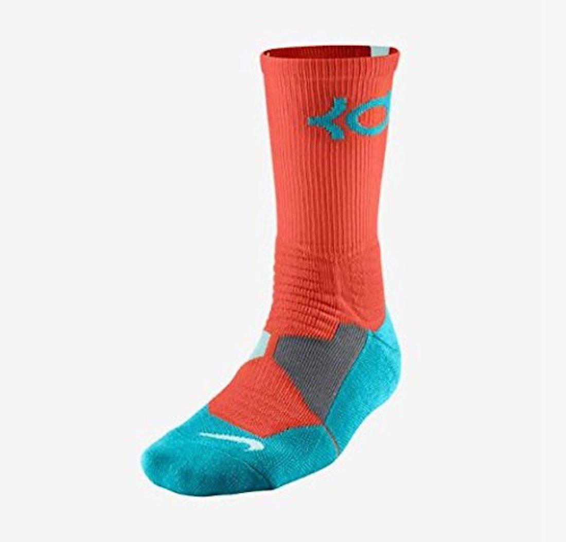 80a66095a328 Nike Men s KD Hyper Elite Cushioned Basketball Socks Medium (6-8) Orange  Blue