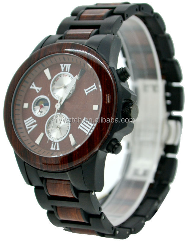 qurzt eco japan friendly function detail product sandalwood watch watches with calendar new