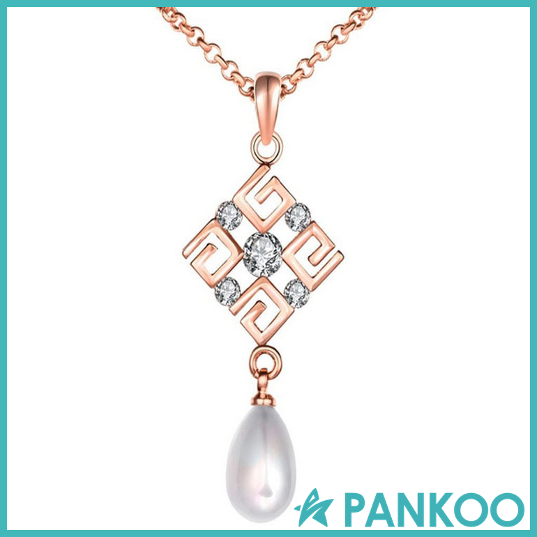 Classic 925 silver China knot pearl pendant 3 colors available