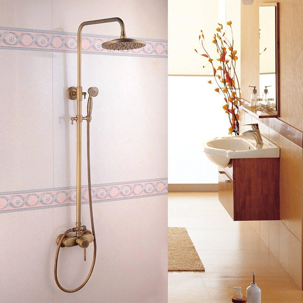 JinRou Modern unique design European-style luxury vintage copper plating shower faucets