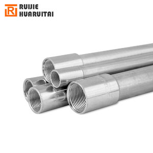 Decorative en 39 erw welded conduit pre-galvanized steel pipe