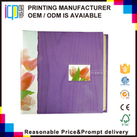 Exquisite pink tulip pattern collect wedding memory beautiful photo album with inner sheet