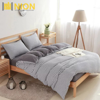 Jersey Cotton Eco Friendly Knit Duvet Cover Set For Naked Sleep