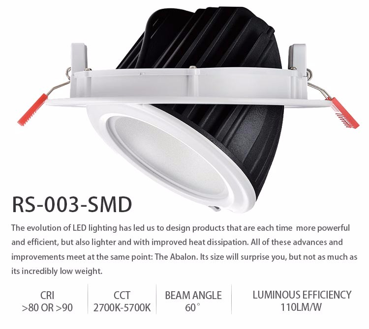 Obals cheap 50w recessed led 6-inch down light adjustable smd downlight