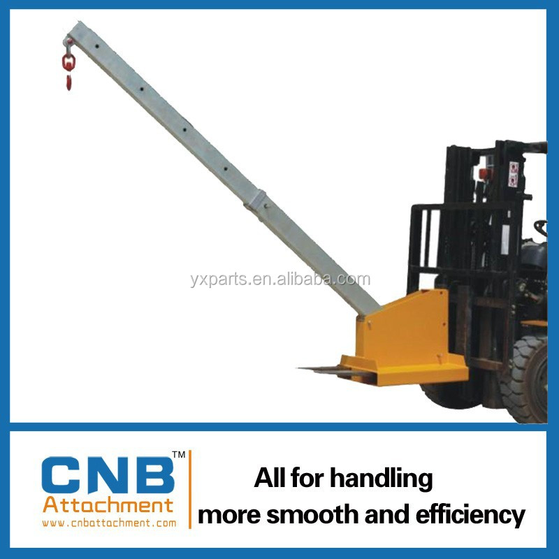 fork attachment crane jib