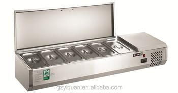 Stainless Steel Countertop Salad Refrigerator,Salad ...