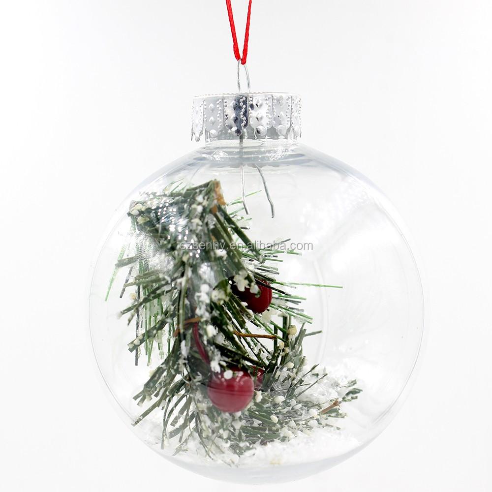 High Quality Decorative Clear Plastic Christmas Ball