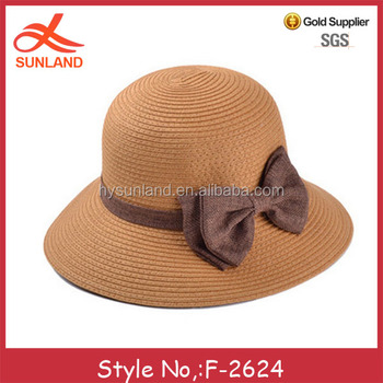 74711ad0a5ef5 F-2624 hot summer products korea bowknot decoration madagascar raffia straw  hats