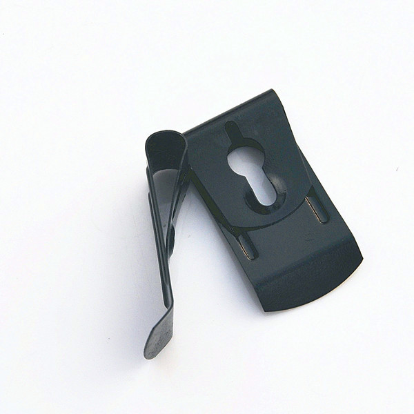 High quality stainless steel flat metal button spring lock <strong>clip</strong>