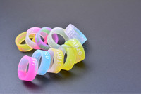 High Quality Embossed Silicone Rubber Wedding Rings