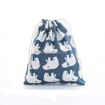 Creative Simple Promotional Cotton Drawstring Bag With Custom Logo ... 12707ff36e11