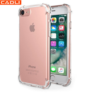 Anti Shock Crystal Clear TPU Transparent Phone Case For Iphone 8 8 plus
