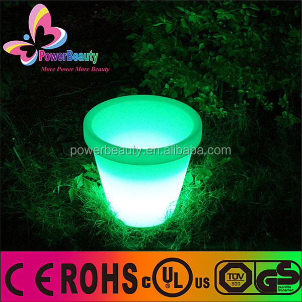 Chinese supplier providing outdoor solar charging flower pot decor SMD led colorful solar planter