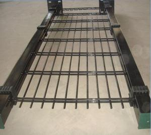 galvanized then PVC coated square post widely used single swing double wire mesh fence and gate
