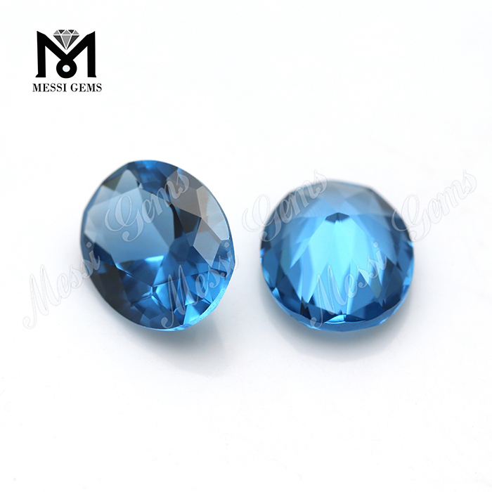 USA Blue Spinel Round  Cubic Zirconia Stones Wholesale CZ AAA 6-8 mm CZ Lots