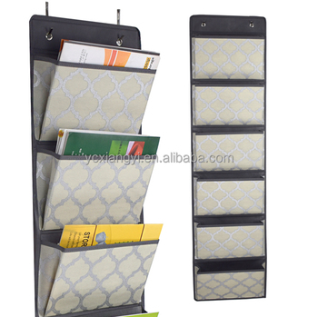 Over The Door Storage Pocket Chart Wall File Organizer
