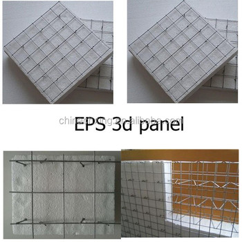 Eps 3d Weld Wire Mesh Foam Panels Import Building Material